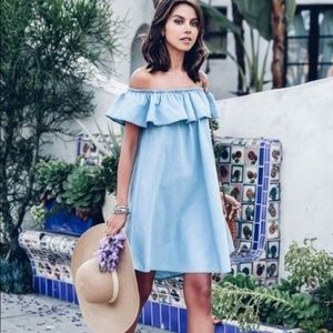 Express Off-Shoulder Trapeze Dress